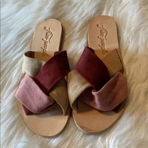 Tri Colored Suede Sandals by Free People